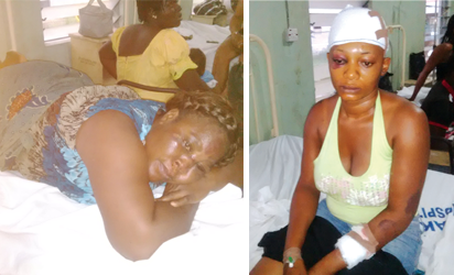 Mrs. Eno Etim & Emem Akpanitiat, victims of the church collapse