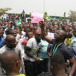 Youths protest against Gov Emmanuel in Uyo