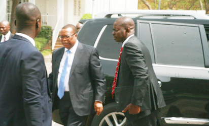 Photos: Suspended NIA DG arrive State House for meeting with VP Osinbajo