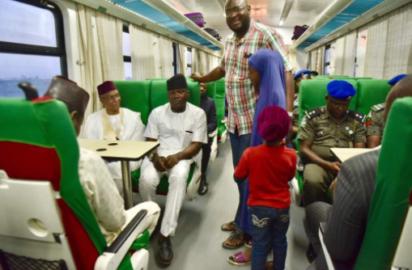 Photos: Nasir El-Rufai on the Abuja-Kaduna train