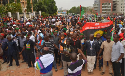 Ipob Members At Federal High Court Abuja Photo By Gbemiga Olamikan