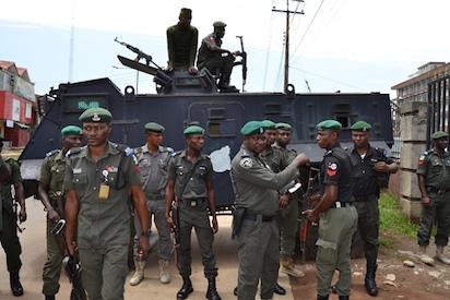 #LagosLGpolls: Security beefed up at LASIEC headquarters