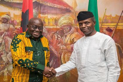 Photos: Osinbajo receives Ghana's President Nana Akufo-Addo in Abuja