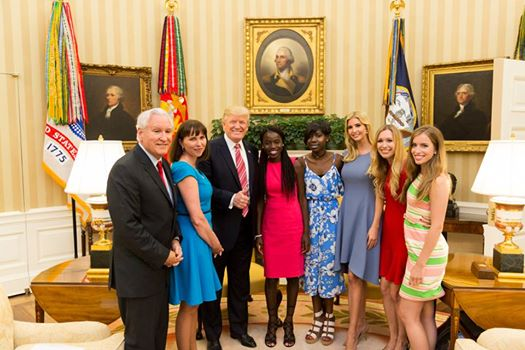 Breaking(Photo): Trump takes picture with Chibok girls