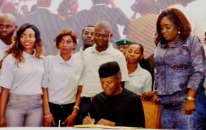 Photos: Osinbajo signs Executive Order on Voluntary Assets and Income Declaration