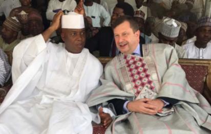 Photos: Saraki, British Ambassador in Kwara