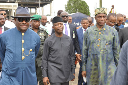 Photos: Political rivals Wikw, Amaechi meet in Rivers
