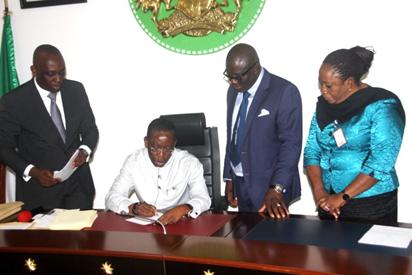 Okowa Signs 5 Bills Into Law