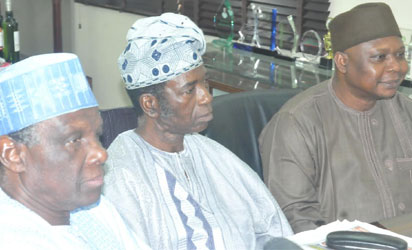 Photos: PDP Former Minister's in a meeting