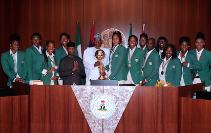 Buhari receives D'Tigress
