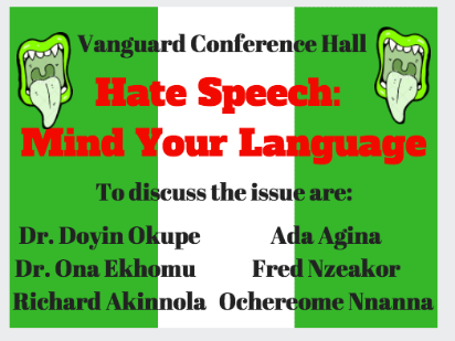 Vanguard Conference Hall On Hate Speech Live Today Vanguard News