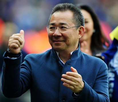 Leicester city. Leicester city. Vichai Srivaddhanaprabha Leicester City  owner 971b7f17b