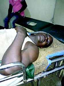 •One of the injured Ogbe-Ijoh villagers