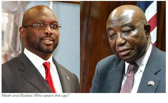 Weah and Boakai: Who wears the cap?