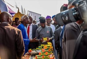 VP Yemi Osinbajo, Osun Governor, Ogbeni Rauf Aregbesola and others during the launching of MSME in Osun
