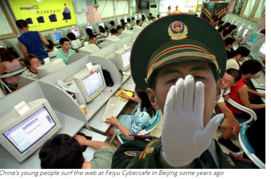 China's young people surf the web at Feiyu Cybercafe in Beijing some years ago