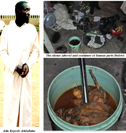 Private parts heart kidney found with lagos alfa vanguard news a cleric popularly called alfa kayode abdulfatai was yesterday arrested with a vagina a heart laps and kidney in moshood gbadabiu area of alakuko ccuart Choice Image