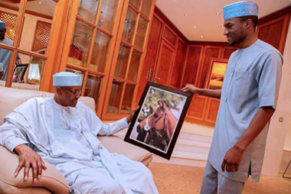 Buhari and his son Yusuf