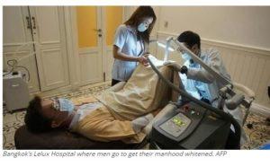 Bangkok's Lelux Hospital where men go to get their manhood whitened. AFP
