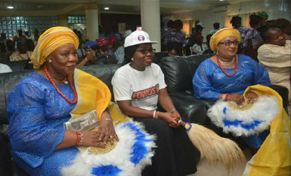 Olori Tinuade and Adejoke Agbede, wives of Olowa of Owa another