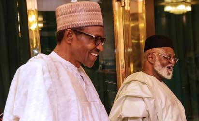 Former President Abubakar visits Buhari