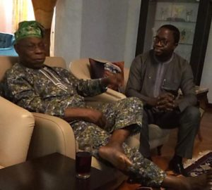 Presidential aspirant, Dr. Thomas-Wilson Ikubese and former Nigerian President, Dr. Olusegun Obasanjo