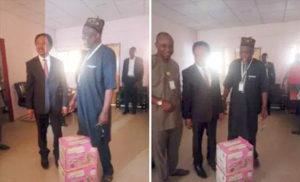 Senator Sani storms JAMB office with anti-snake venom, charmers