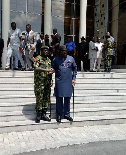 Governor Dickson and Buratai