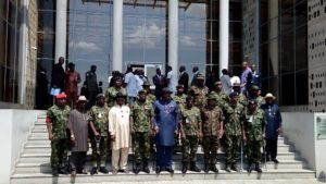 Governor Dickson, Buratai and his entourage