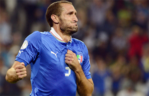 Chiellini out of Italy friendlies with thigh injury