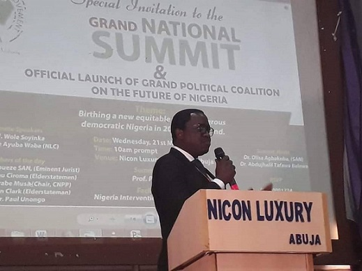 Presidential aspirant of the National Conscience Party, Dr. Thomas-Wilson Ikubese