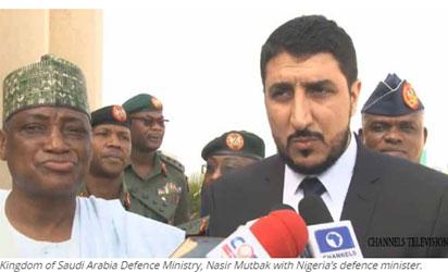 Kingdom of Saudi Arabia Defence Ministry, Nasir Mutbak with Nigeria's defence minister.