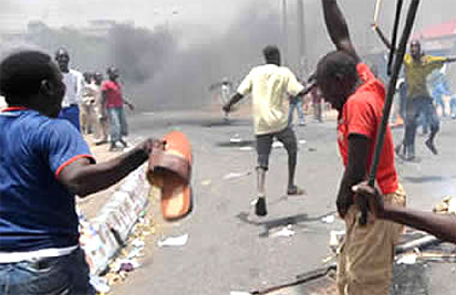 Valentine's Day violence: women carry placards in Cross River