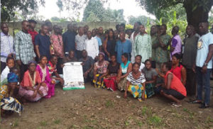 Kporghor villagers and KSWA officials after the sensitisation