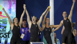 Australia women break world record in 4x100m freestyle relay