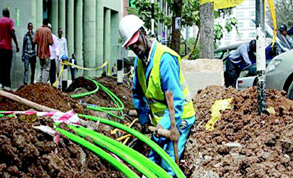 •Laying broadband cable to extend services to the rural areas, a major problem in Nigeria