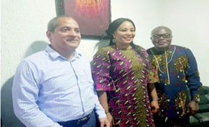 (L-r) Managing Director, Metropolitan Networks, United Kingdom; Ashok Thomas, General Manager, Metropolitan Networks, Nigeria, Cecelia Asianah, and Managing Director, Metropolitan Networks, Nigeria, Robert Okonyia, at a media chat in Lagos recently.