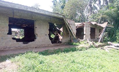 •A classroom in Aponmu High School