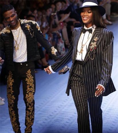 Wizkid, Naomi Campbell walk Dolce and Gabbana runway - Vanguard News
