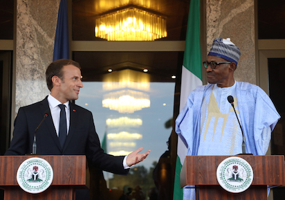Buhari Receives French President, Emmanuel Macron In Abuja