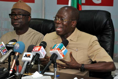 Image result for APC has no room for emperors Oshiomhole fires back at Okorocha, Amosun