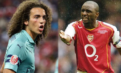 Hair to the throne? Arsenal's Guendouzi compared to Vieira