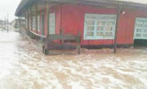 •A house affected by sea incursion in Ayetoro, Ondo State