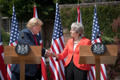 Trump suggested Britain 'sue the EU' over Brexit, Prime Minister May says