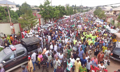 Youths on solidarity match for Ekweremadu