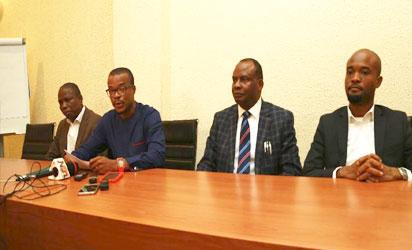 Mr David Samuel, consultant, Kandyson Konsult, Mr Amara Nwankpa Director, public policy initiative,Shehu Musa Yar'Adua Foundation , Mr Andrew Onyeanakwe, Consultant, Kandyson Konsult, Mr. Bode Longe, Consultant, BL&C Limited
