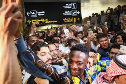 Al-Nassr supporters welcome Ahmed Musa to Saudi Arabia