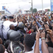 Jubilant youths block Akpabio's convoy in Uyo
