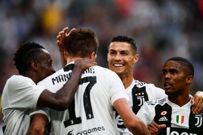 juventus vs lazio ronaldo makes winning home debut vanguard news