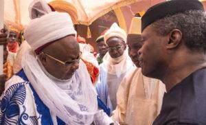 Osinbajo with Emir of Daura
